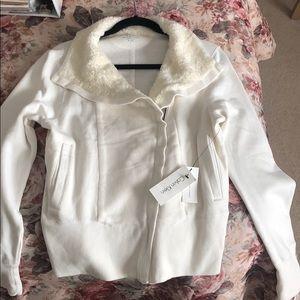 Calvin Klein zip up cream jacket NWT